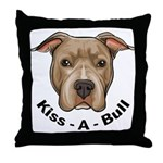 Kiss-A-Bull 1 Throw Pillow