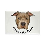 Kiss-A-Bull 1 Rectangle Magnet (100 pack)