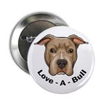 "Love-A-Bull 1 2.25"" Button (100 pack)"