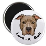 "Love-A-Bull 1 2.25"" Magnet (10 pack)"