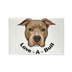Love-A-Bull 1 Rectangle Magnet (100 pack)