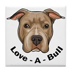 Love-A-Bull 1 Tile Coaster