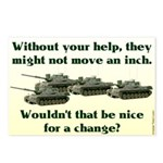 Tanks Not Move an Inch Postcards (8)