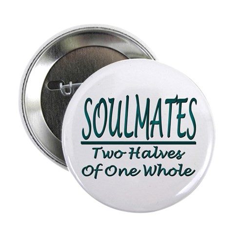 ...Two Halves... Button Badge Love 2.25 Button by CafePress