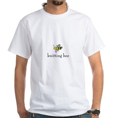 Knitting Bee White T-Shirt
