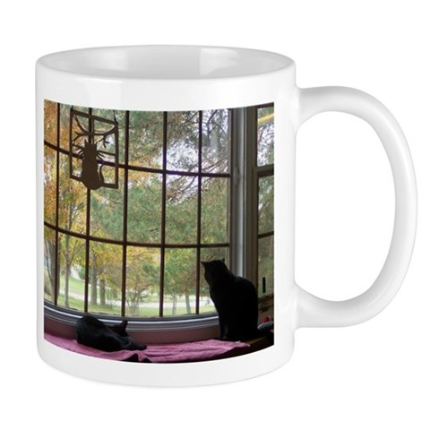 Window View Cat Mug by CafePress