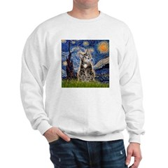 Starry Night Tiger Cat (#25) Sweatshirt