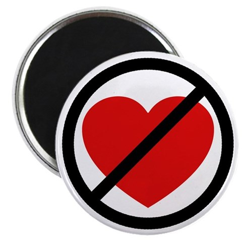 Anti-Valentine Heart  Funny 2.25 Magnet 100 pack by CafePress
