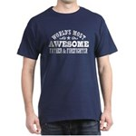 World's Most Awesome Father & Firefighter Dark T-S