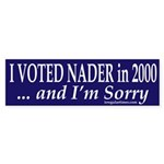 I voted Nader and I'm Sorry (Sticker)