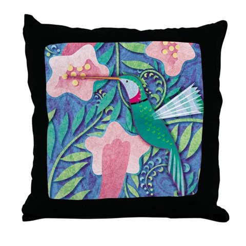 Hummingbird  Bird Throw Pillow by CafePress
