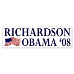 Richardson-Obama 2008 Bumper Sticker