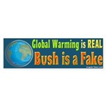 Global Warming is Real Bumper Sticker