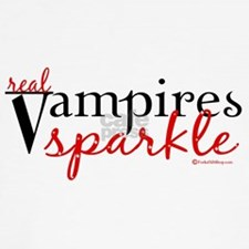 Real Vampires Sparkle Throw Pillow