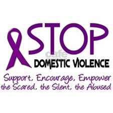 Stop Domestic Violence 2 Sticker (Oval)