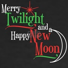 Twilight New Moon Christmas Women's V-Neck Dark T