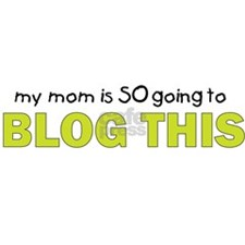mommy blog t shirt Rectangle Sticker