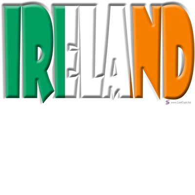 Word Art Flag Ireland Coolcups International Store
