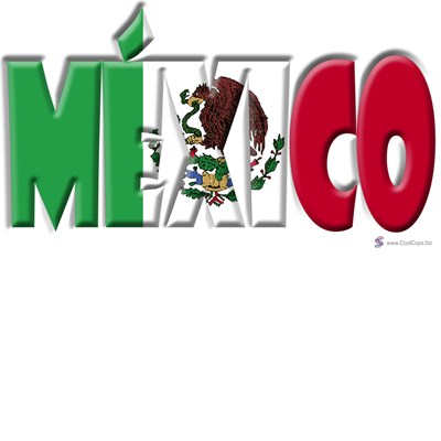 Word Art Flag Of Mexico Coolcups International Store