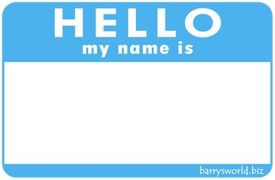 blank name tag barry s world