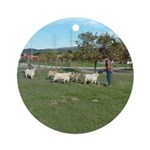 Ranch Goats Ornament (Round)