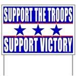 Support the troops support victory yard sign