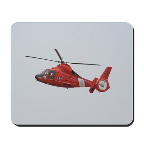 U.S. Coast Guard Helicopter  Art Mousepad by CafePress