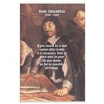 Philosopher: Rene Descartes Large Poster