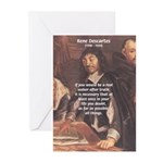 Philosopher: Rene Descartes Greeting Cards (Packag