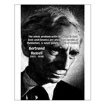 Philosopher Bertrand Russell Small Poster
