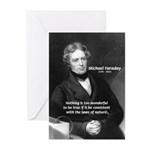 Michael Faraday Greeting Cards (Package of 6)