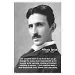 Nikola Tesla Big Poster Print. Philosophy, Science, Art, Music, Nature, Political, Propaganda, War Posters with Pictures & Quotes