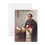 Theology Thomas Aquinas Greeting Cards (Package of