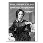 Novelist Charlotte Bronte Small Poster