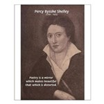 Romantic Poet Percy Shelley Small Poster