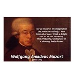 Mozart's Work: Symphony, Piano Postcards (Package