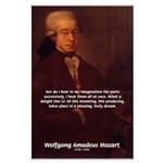 Mozart's Work: Symphony, Piano Large Poster