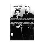 Marie Curie Better World Mini Poster Print