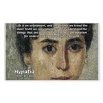 Wisdom of Greece: Hypatia Sticker (Rectangular)