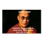 The Dalai Lama Sticker (Rectangular)