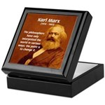 Power of Change Karl Marx Tile Box