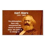 Power of Change Karl Marx Sticker (Rectangular)