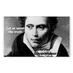 Schopenhauer Philosophy Truth Sticker (Rectangular