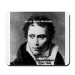 Schopenhauer Philosophy Truth Mousepad