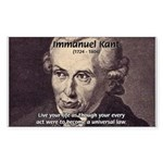 Universal Law: Kant Sticker (Rectangular)