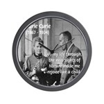 Marie Curie Physics Liberty Wall Clock