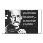 Max Planck Quantum Theory Sticker (Rectangular)