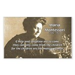 Maria Montessori Education Sticker (Rectangular)