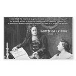 Leibniz Origins of Calculus Sticker (Rectangular)