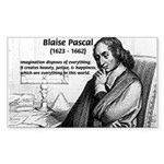 Mathematics: Blaise Pascal Sticker (Rectangular)